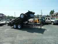 (Demo) P.J. 7 TON  Low-Pro dump trailer (12ft.) #960