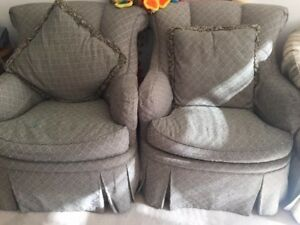 Free furniture including couch, arm chairs, desks, chairs etc