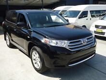 2013 Toyota Kluger GSU40R MY11 Upgrade KX-R (FWD) 7 Seat Black 5 Speed Automatic Wagon Canada Bay Canada Bay Area Preview