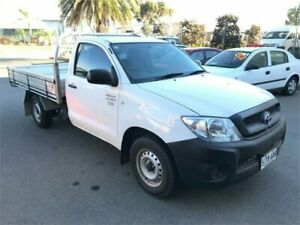 2008 Toyota Hilux TGN16R MY08 Workmate White Manual Cab Chassis Mawson Lakes Salisbury Area Preview