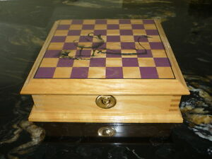 CHESS AND CHECKERS CHEST SET