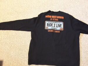 Harley Davidson fleece pullover for a BIG person