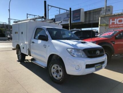 2011 Toyota Hilux KUN26R MY10 SR White 5 Speed Manual 2D Cab Chassis Granville Parramatta Area Preview