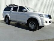 2013 Toyota Hilux KUN26R MY12 SR5 Double Cab White 4 Speed Automatic Utility Canning Vale Canning Area Preview