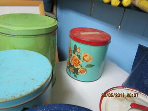 number of old   kitchen tins