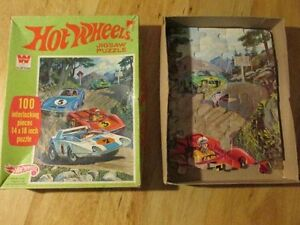 Whitman Vintage Jigsaw Puzzle HOT WHEELS 1970 Racing Car Toy