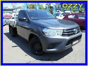 2017 Toyota Hilux TGN121R Workmate Grey 5 Speed Manual Cab Chassis Penrith Penrith Area Preview