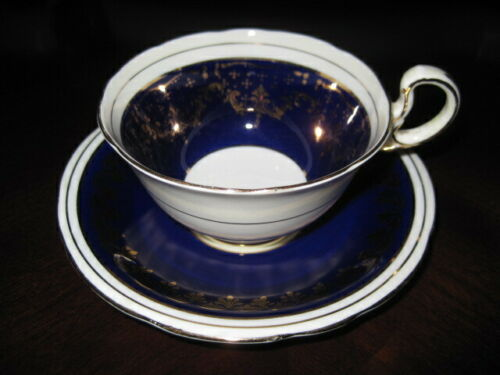 Aynsley Cobalt Blue teacup & saucer - so pretty!  nice gold and blue!