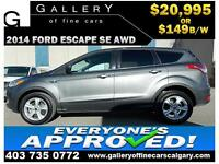 2014 Ford Escape SE AWD $149 Bi-Weekly APPLY TODAY DRIVE TODAY