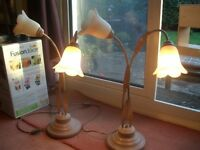 Pair of solid and heavy Art Deco lamps