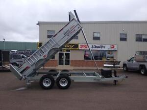 "2017 K-Trail 80"" x 14' HD Galvanized Dump Trailer"