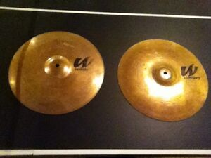 """14"""" high hat cymbals"""