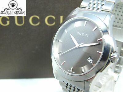 NICE!! GUCCI 126.4 G TIMELESS DATE MEN'S VINTAGE SWISS MADE WATCH QUARTZ BOX