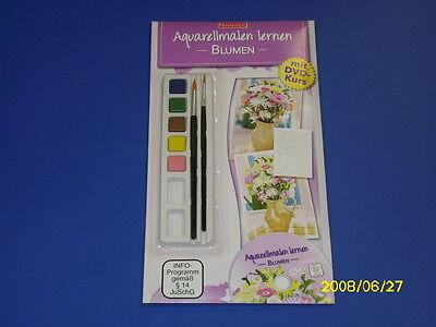 Aquarellmalen lernen mit DVD-Kurs - Blumen