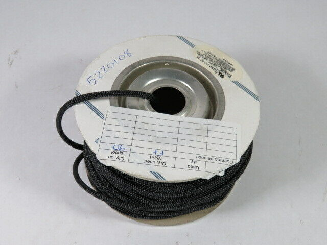 """Alpha Wire GRP-110NF-18 Expandable Braided Sleeving 1/8"""" 90ft/Roll  USED"""