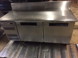 Skope 2 door commercial fridge with stainless steel prep bench Leonay Penrith Area Preview