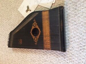 Phono Harp Zither Antique Musical Instrument