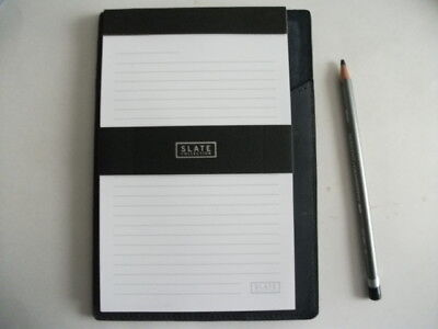 The Elliot Bay Leather Folio - Small - Color Indigo - For 5 X 8 Legal Pad New