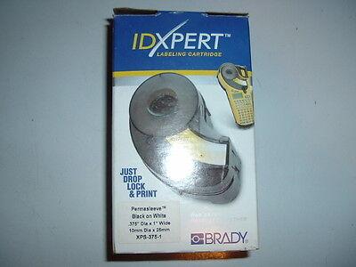 Brady Idxpert Cartridge Permasleeve Blk On Wht .375 D X 1 Xps-375-1