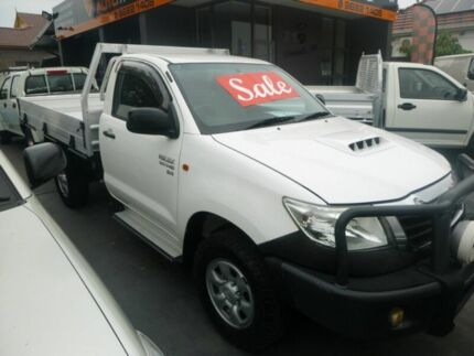 2011 Toyota Hilux KUN26R MY10 SR White 4 Speed Automatic Cab Chassis