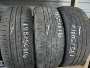 195/50R16- 3 ONLY MATCHING USED KUMHO A/S TIRES