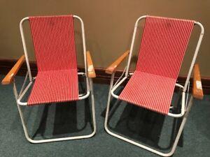 Vintage kids folding chairs