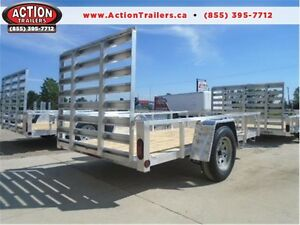 EASY TOW, LIGHT WEIGHT, QUALITY ALUMINUM UTILITY TRAILER - 5X10! London Ontario image 1