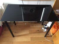 Ikea Glass Table Black