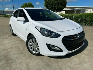 2014 Hyundai i30 GD2 Active White 6 Speed Sports Automatic Hatchback Garbutt Townsville City Preview