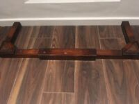 Vintage wooden fireplace fender with beautful carved detailing £20 ONO