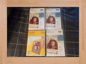 Photo Paper Glossy New hp Premium and Kodak Lot of Four Packages