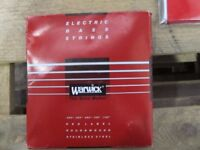 Warwick steel bass strings for 4 or 5 string bass £6