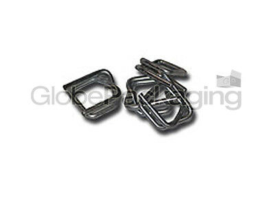 1000 x GALVANISED METAL BUCKLES FOR 12mm HAND PALLET STRAPPING