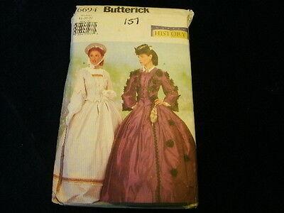 Oop Uncut Bürgerkrieg Ära Kleid Kostüm Nähmuster Butterick #6694 P1