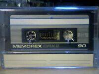 MEMOREX CRX II 90 CHROME CASSETTE TAPES (1987-1988)