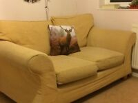 Quality 2 Seater Sofa Beige - offers accepted - no marks with washable cover