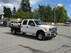 2011 FORD F-350 SUPER DUTY XLT CREW CAB FLAT DECK 4X4