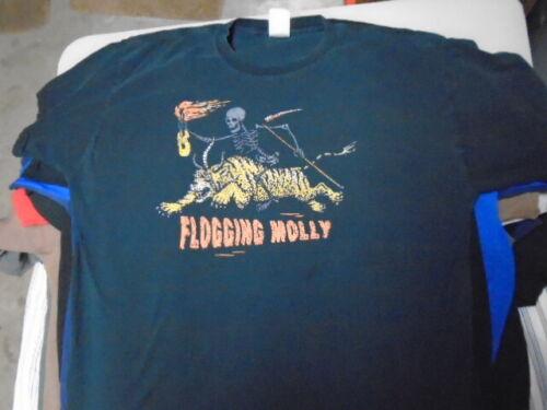 RARE OOP Flogging Molly SHIRT xl Riding Skeleton CELTIC PUNK original vintage ?