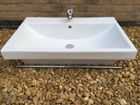 Large Vanity Basin / Wash Basin / Bathroom Sink Including Tap **Excellent Condition**