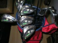 Set of pinseeker golf clubs