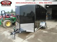 MOTORCYCLE TRAILER/LANDSCAPE TRAILER 6 X 12 ENCLOSED 2016 HAULIN