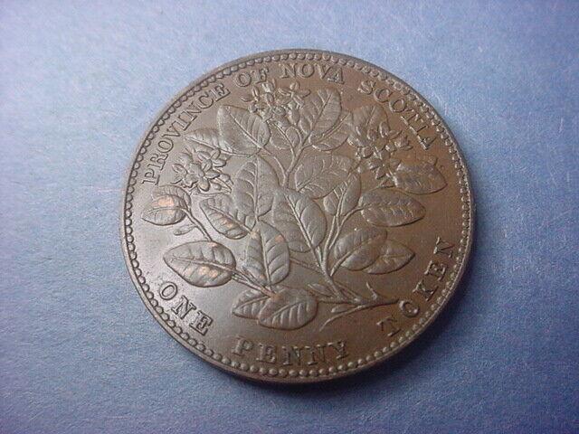 Canada Token Nova Scotia 1 Penny 1856 with LCW #36647