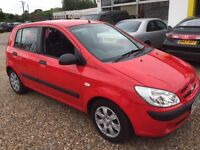 2006 HYUNDAI GETZ 70000 MILES GOOD CONDITION DRIVES QUITE AND SMOOTH ONE YEAR MOT VERY CHEAP TO RUN