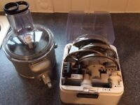 Kitchen aid food processor and large glass mixing bowl