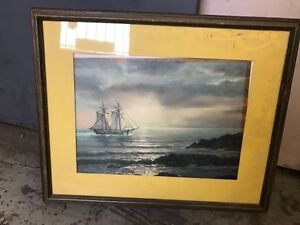 Picture / Painting of a sail boat in frame