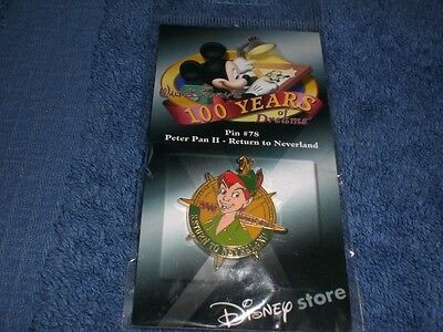 Disney 2001 Disney Store 100 Years Dreams PETER PAN II RETURN TO NEVERLAND PIN