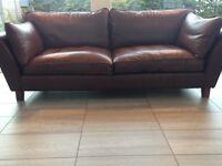 Sofa dark brown leather