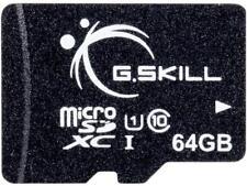 G.Skill 64GB microSDXC UHS-I/U1 Class 10 Memory Card without Adapter (FF-TSDXC64
