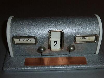 Antiker Tischkalender - ewiger Kalender Tag und Monat aus den 50iger Jahren