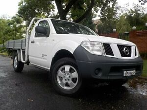 2009 Nissan Navara D40 RX (4x4) White 6 Speed Manual Cab Chassis Manningham Port Adelaide Area Preview